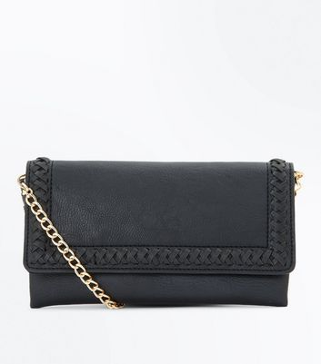 Black Stitch Trim Purse Clutch