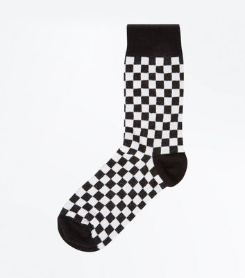 Black Check Board Socks