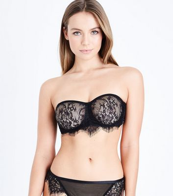 Black Lace Bandeau Bra