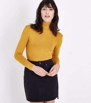 Mustard Yellow Roll Neck Top