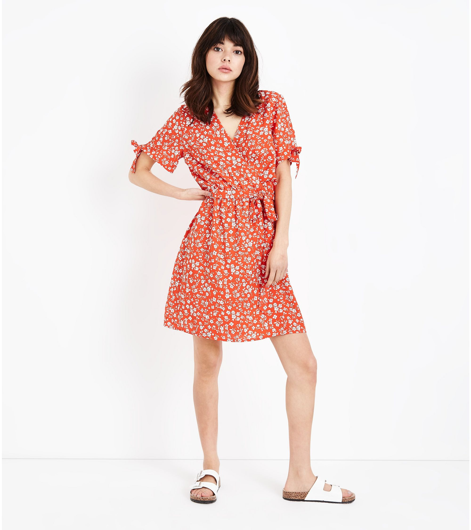 483acb4216302 New Look Red Ditsy Floral Print Wrap Dress at £9 | love the brands