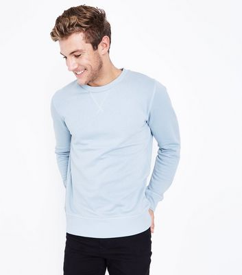 Pale Blue Crew Neck Sweatshirt