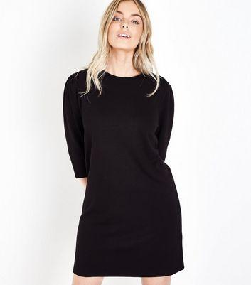 Black crochet dress new look