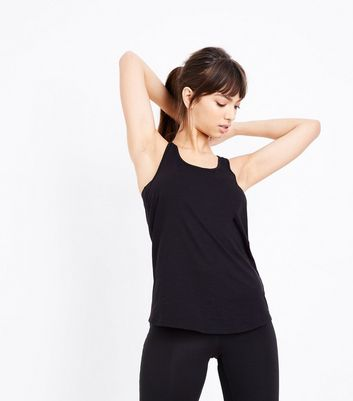 Black Racer Back Sports Vest