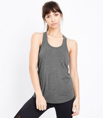 Grey Racer Back Sports Vest