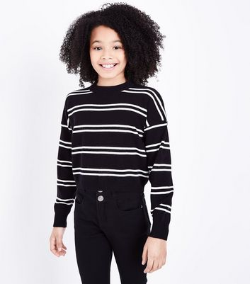 Teens Black Stripe Jumper