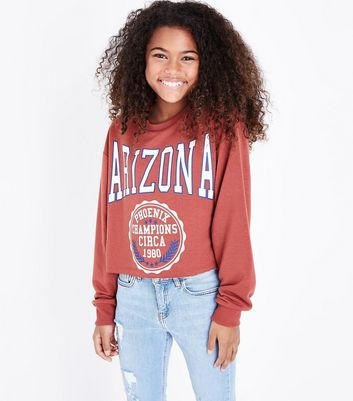 "Teenager – Rostbraunes Sweatshirt mit ""Arizona State""-Aufdruck"