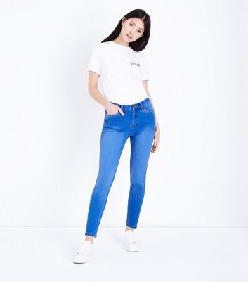 Petite Bright Blue 26in Super Soft Super Skinny Jeans