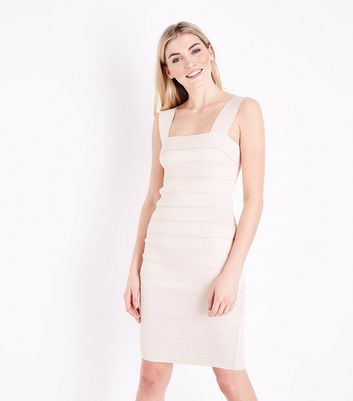 Pale Pink Bandage Bodycon Dress