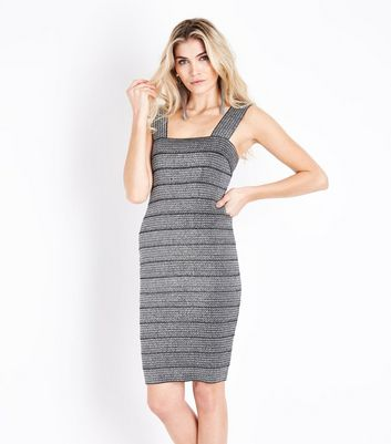 Silver Metallic Bodycon Bandage Dress