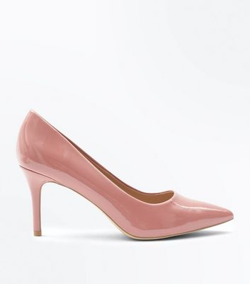 Pink Patent Pointed Court Shoes