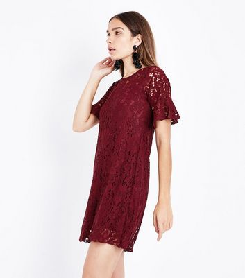 Cameo Rose Burgundy Lace Tunic Dress
