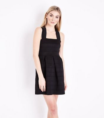 Black Bandage Skater Dress
