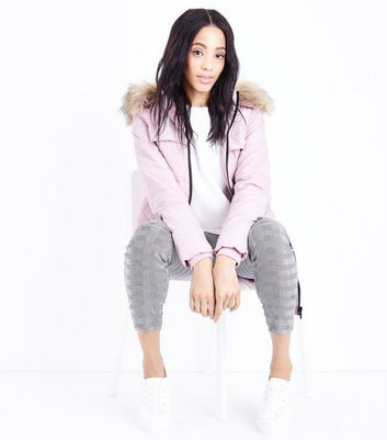 Urban Bliss Shell Pink Longline Puffer Jacket
