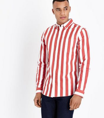 Red Bold Stripe Long Sleeve Shirt