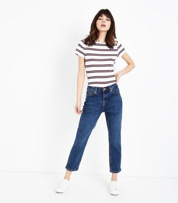 Blue Rinse Wash Cropped Skinny Jenna Jeans