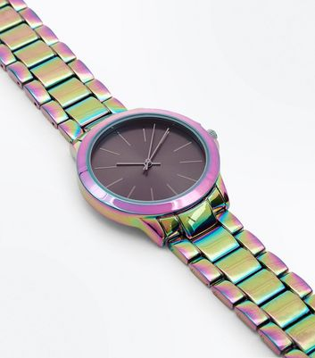 Multi Coloured Holographic Sports Watch