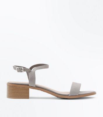f05828afac Shoptagr | Grey Low Block Heel Sandals by New Look