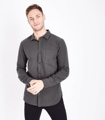 Dark Grey Crepe Shirt