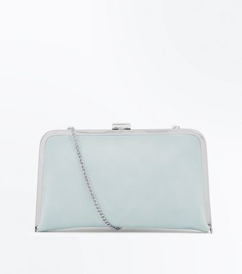 Mint Green Framed Clutch Bag