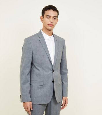 Grey Prince Of Wales Check Blazer