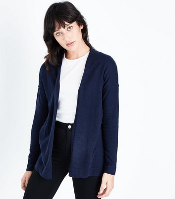 Apricot Navy Stitch Trim Cardigan