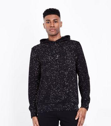 Black Spray Wash Hoodie