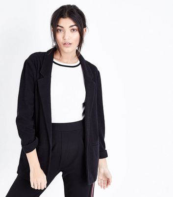 Black Cross Hatch Blazer