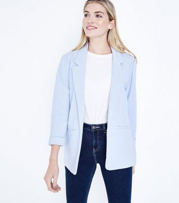 Pale Blue Cross Hatch Blazer