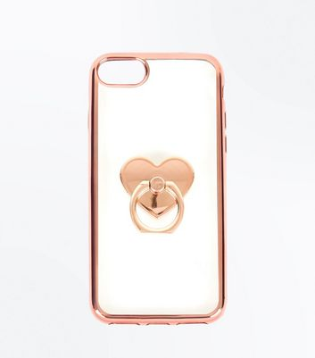 Rose Gold Ring Heart Phone Case