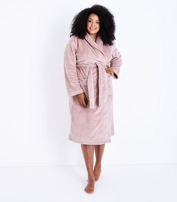 Curves Pink Fluffy Robe