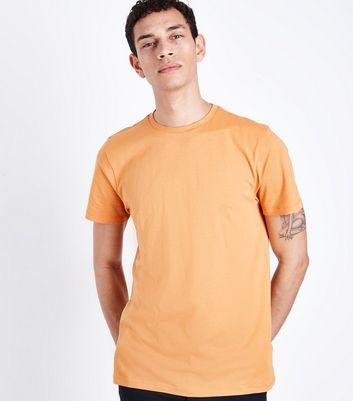 Bright Orange Crew Neck T-Shirt