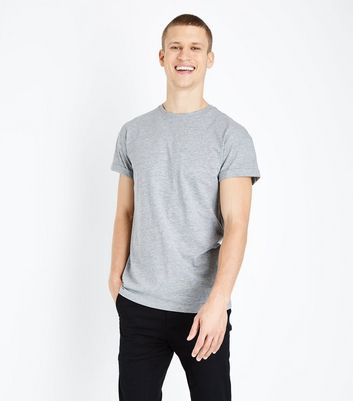 Grey Marl Rolled Sleeve T-Shirt
