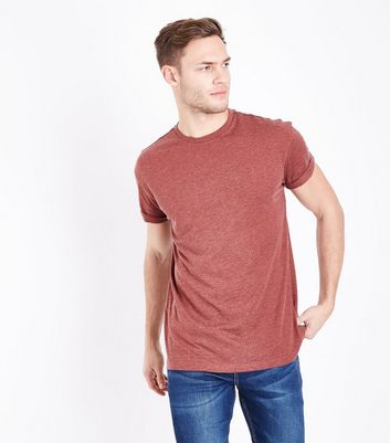 Mink Marl Rolled Sleeve T-Shirt