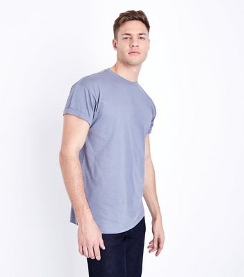 Pale Blue Rolled Sleeve T-Shirt