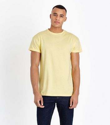 Pale Yellow Rolled Sleeve T-Shirt