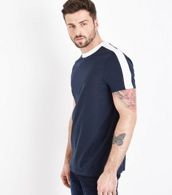 Navy Side Stripe T-Shirt