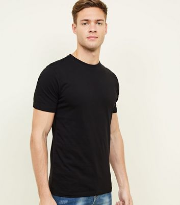 Black Short Sleeve Muscle Fit T-Shirt
