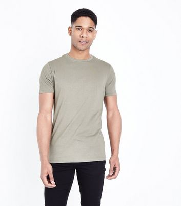 Olive Short Sleeve Muscle Fit T-Shirt
