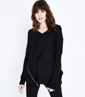 QED Black Side Zip Jumper