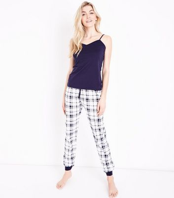 Tall Blue Check Pyjama Set