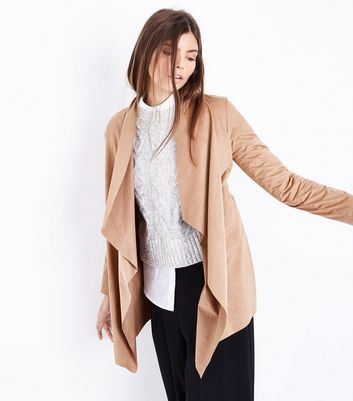 Mela Tan Suedette Waterfall Jacket