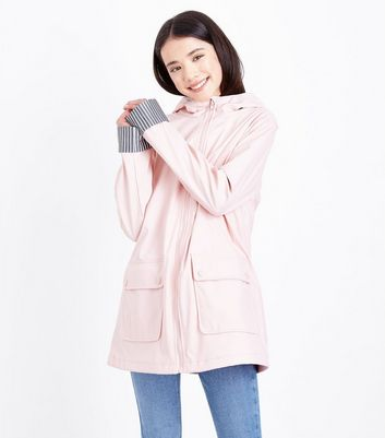 Teens Pale Pink Hooded Mac