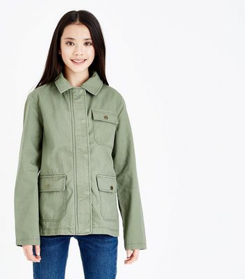 Teens Khaki Shacket