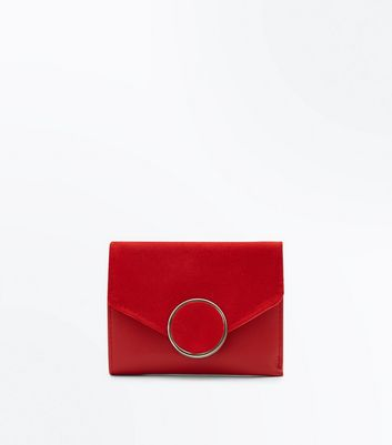 Red Circle Front Small Purse