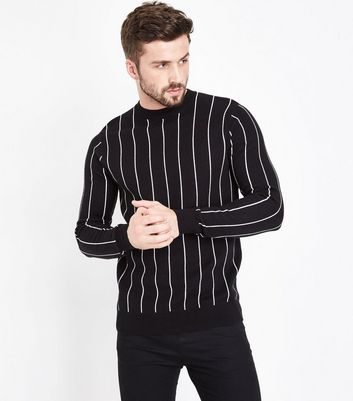 Black Vertical Stripe Jumper