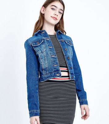 Teenager – Marineblaue Jeansjacke
