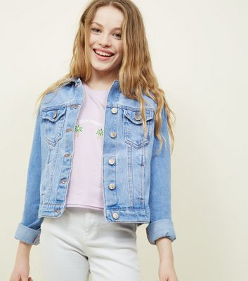 Teens Bright Blue Denim Jacket