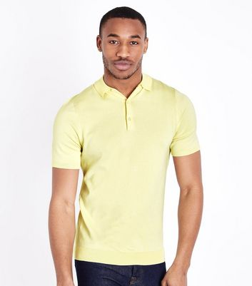 Polo jaune clair Muscle Fit