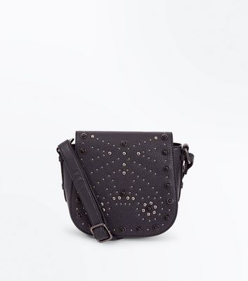 Black Studded Western Cross Body Bag